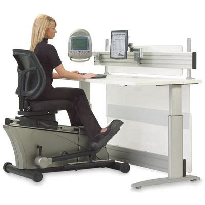 Office Desk Gadgets Workout While You Work With The Elliptical Machine Office