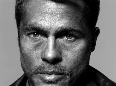 Brad Pitt And Turn Their Noses Up To The Oscars by Masa 252 St 252 Erkekler Y 252 Z Tek Renkli Model Portre Akt 246 R