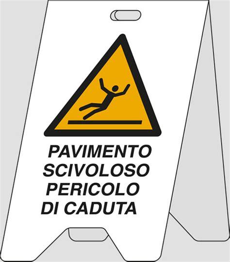 cartello pavimento scivoloso cartello polionda bifacciale pavimento scivoloso