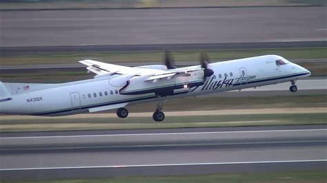 alaska airlines horizon air q400 n431qx takeoff portland airport pdx
