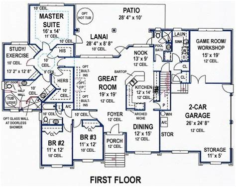 house plans with room 4 bedroom 3 bath southern house plan alp 099k