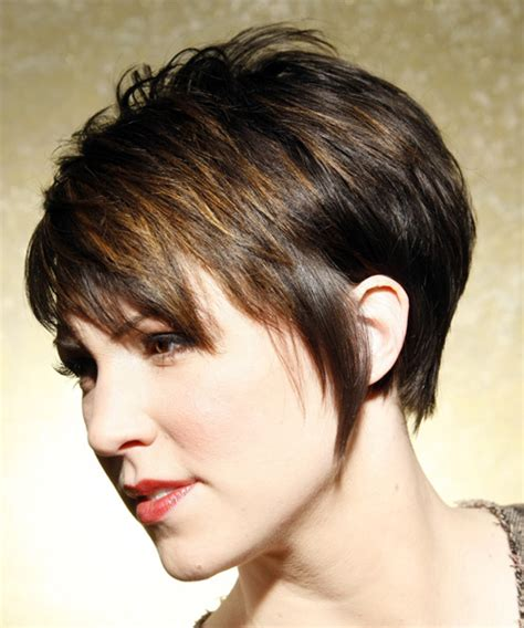 back short haircuts with bangs cute short layered haircuts