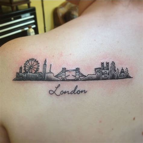 london tattoo minimalist london skyline tat pinteres