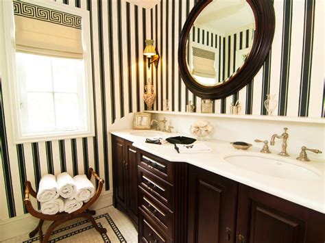 striped wallpaper bathroom bathroom pictures 99 stylish design ideas you ll love