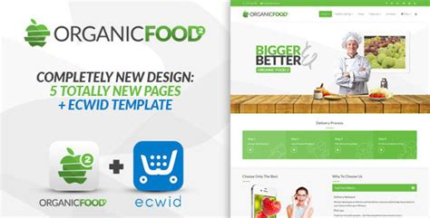 New Template Organic Food Responsive Joomla Template Download Free Themeforest Gratis Digital Marketing Responsive Website Template Free