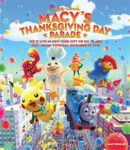 thanksgiving falls on what day 2014 macy s thanksgiving day parade wikipedia
