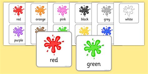 color flash cards colour flash cards colour flash cards visual aids cards