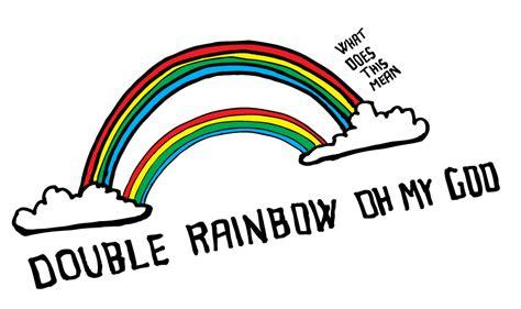Double Rainbow Meme - animated double rainbow