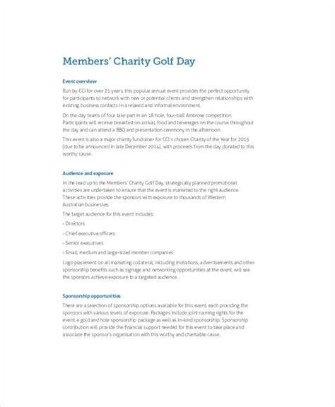 charity event letter for sponsorship 30 sponsorship exles sles
