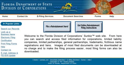 state of alaska corporations section florida division of corporations usefull websites
