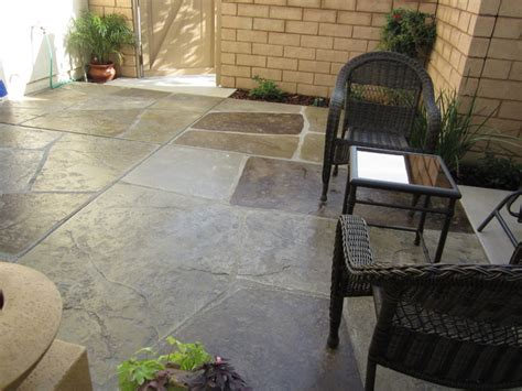 Concrete Colors For Patios by Sted And Colored Concrete Quot Imported Quot Patio