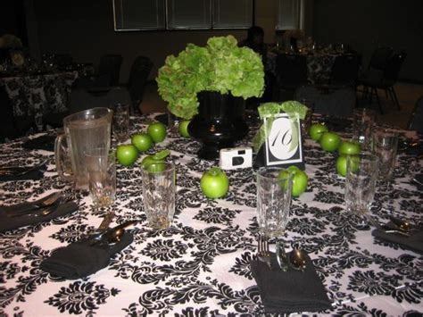 Looking for Lime/Apple Green Decor/Ideas : wedding black