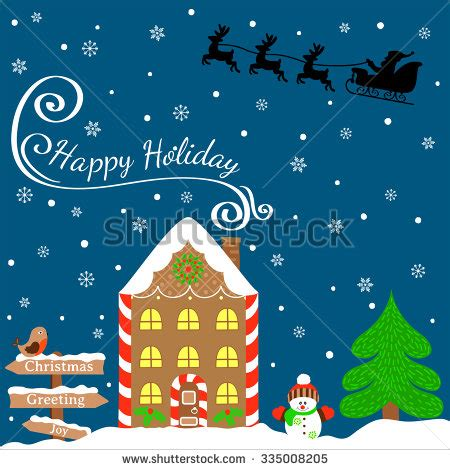 happy holidays photo card template free santa claus house stock images royalty free images