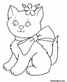 Kittens For Girls Coloring Pages Printable Kids sketch template