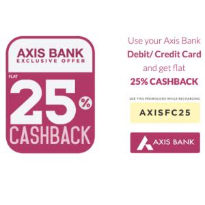 How To Use Axis Bank Gift Card In Amazon - axis bank cards mobile recharge bill payment 25 cashback maximum rs 25 freecharge