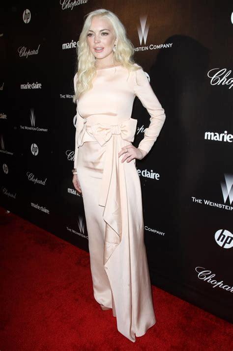 Lindsay Lohan Golden by Lindsay Lohan At The Golden Globes The Gossip