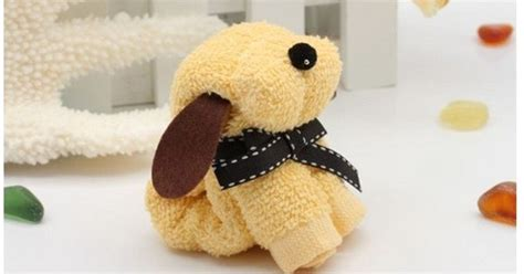 washcloth puppy washcloth and towel creations pinterest towels craft and babies