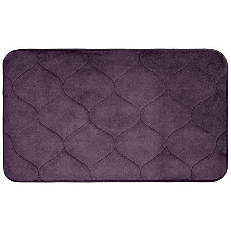 Plum Bath Rugs Bouncecomfort Palace Plum 20 In X 34 In Memory Foam Bath Mat Ymb004335 The Home Depot