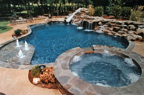 Backyard Ideas With Inground Pool Inground Pools Designed For Backyard Living Residential