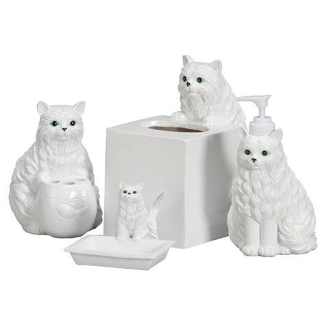 Playful Cat Bathroom Accessories Set Of 4 Soap Dish Cat Bathroom Accessories