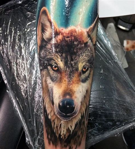 realistic wolf tattoo 100 forearm sleeve designs for manly ink ideas