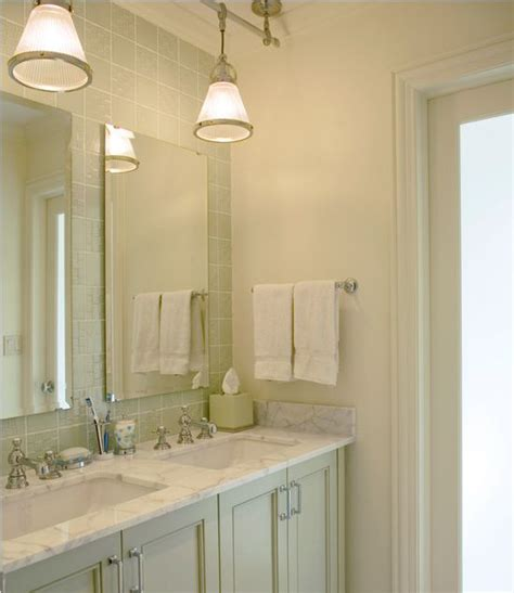 Above Vanity Lighting The Rod For The Pendants Decorating Ideas