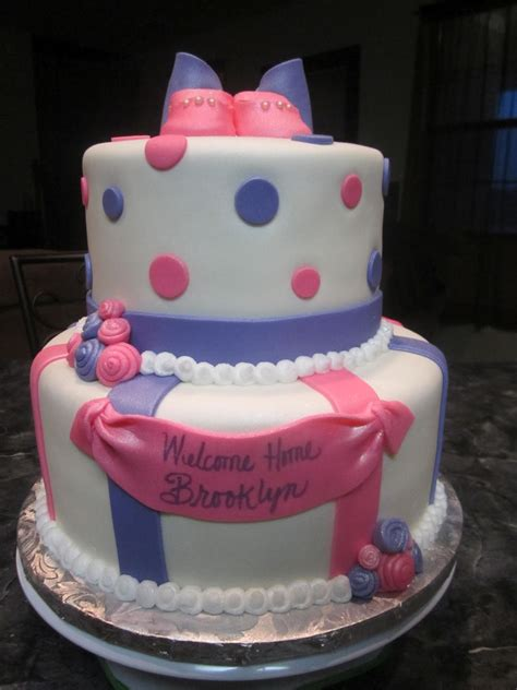 pink cakes for baby showers mymonicakes pink purple baby shower cake