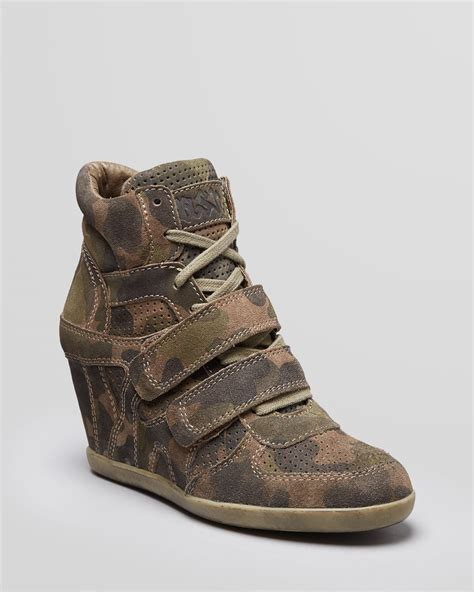 wedge sneakers ash lace up high top wedge sneakers bea in lyst