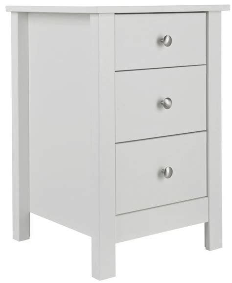 3 Drawer Bedside Cabinet White by Buy Florence White Bedside Cabinet 3 Drawer Cfs Uk