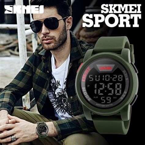 Jam Tangan Led Skmei Sport Trendy Led Display Water Resistant skmei jam tangan trendy digital pria dg1218 blue jakartanotebook