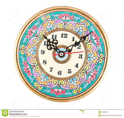 Astronomical Wall Clock painted clock royalty free stock photo image 19523895