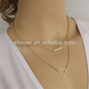 Custom Gold Necklace Simple Fashion Two Layer Gold Chain Design Women Necklace Buy Women Necklace Gold Long Chain