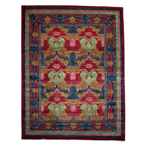 9 X 11 Area Rugs Darya Rugs Arts Blue 9 Ft X 11 Ft 8 In Indoor Area Rug M1732 105 The Home Depot