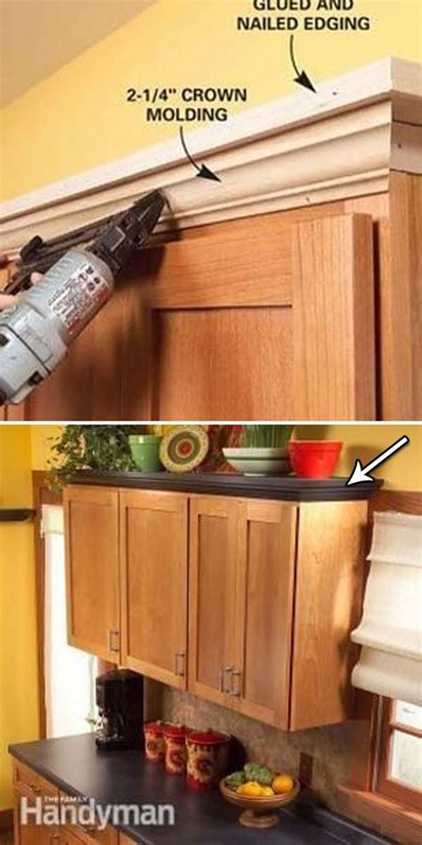 molding for kitchen cabinets shelves above kitchen 20 inexpensive ways to dress up your home with molding