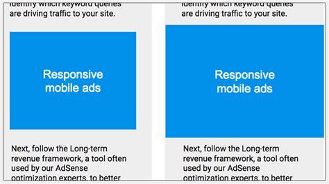 adsense responsive ads google adsense now has responsive ads that morph to screen