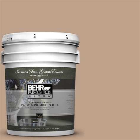 interior paint home depot behr premium plus ultra 5 gal n240 4 sierra semi gloss