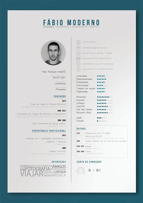 curriculum vitae design software curriculum vitae by f 225 bio moderno via behance print