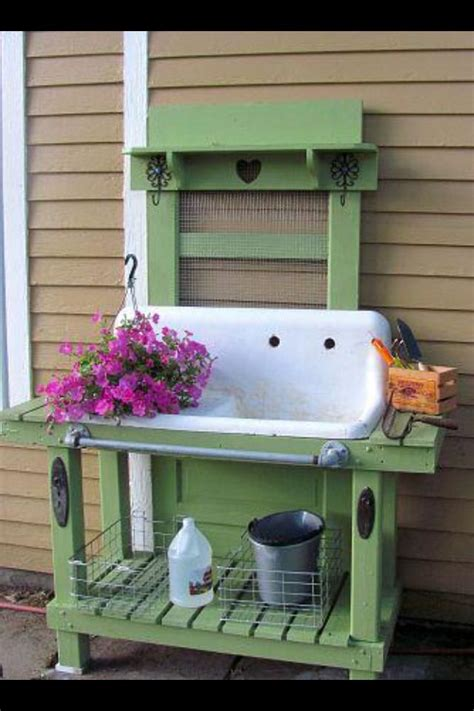 backyard sink 132 best images about potting benches and outdoor sinks on