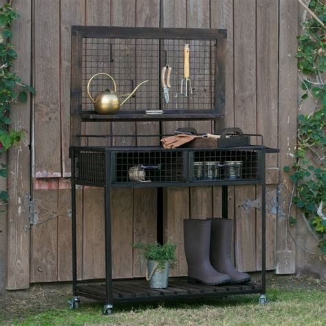 potting benches for sale coral coast guthrie wood and metal potting bench megg080