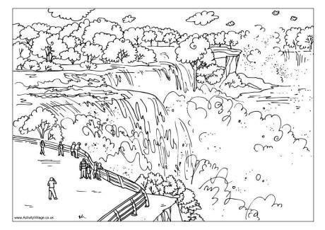 Niagara Falls Coloring Page niagara falls colouring page