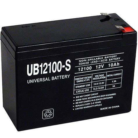 upg sla 12 volt f2 terminal battery ub12100 s the home depot