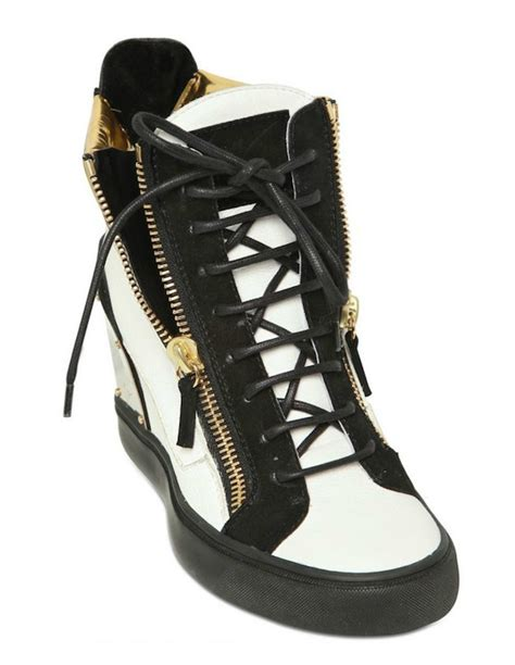 giuseppe zanotti womens sneakers giuseppe zanotti women s gold heel plate wedge shoes va