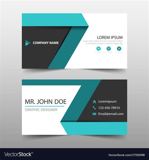 Card Name Template Vector by Green Label Corporate Business Card Name Card Vector Image