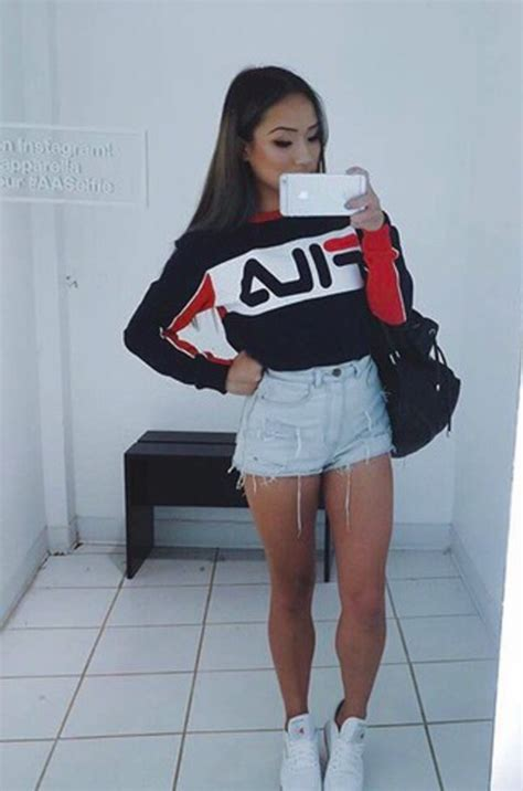 Red Kitchen Furniture top fila sweater cropped sweater wheretoget