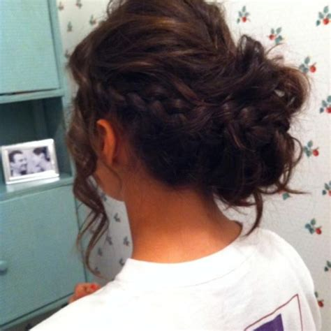 prom hairstyles for brunette hair women brunette updo with braids ideas hairstyles stock