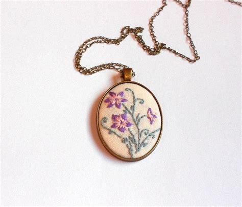 unique pendants for jewelry floral necklace purple flower statement necklace fabric