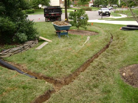 backyard drainage ideas ideas how to build a french drain design ideas with green