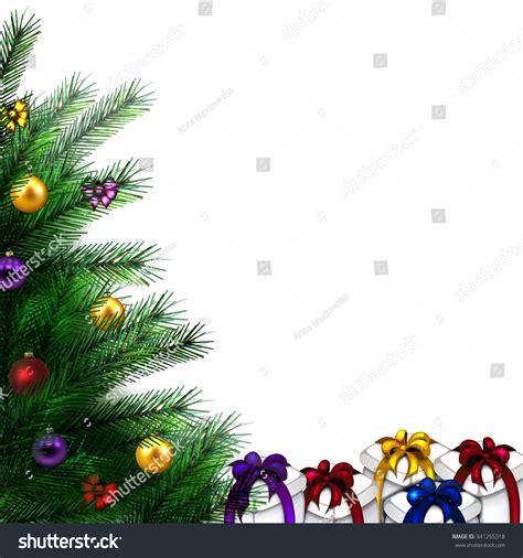 new year vector border festive tree vector border happy stock vector