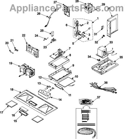 Elemen Microwave parts for samsung mo1650ca controls latch asy