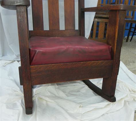 Bargain John's Antiques » Blog Archive Antique Mission Oak Rocking Chair by Charles Stickley